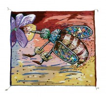 _Bees Work_ Rug- 65x 70 _#8D51 resize