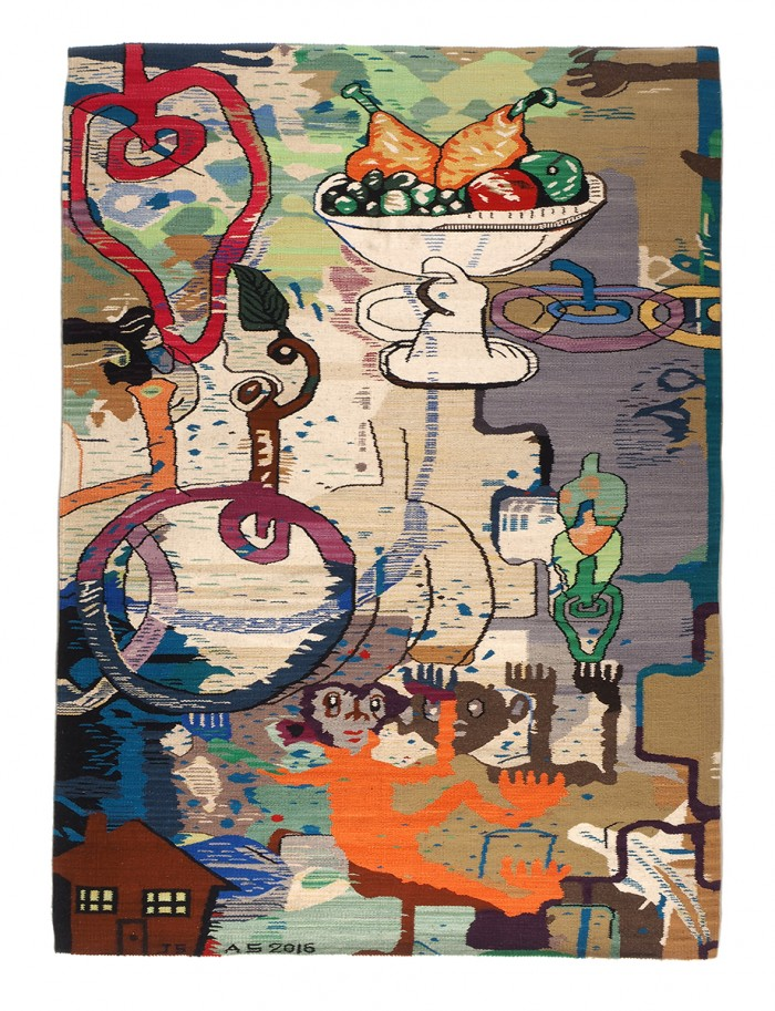 Fruit Bowl Tapestry 96x74_, low res#8EA7
