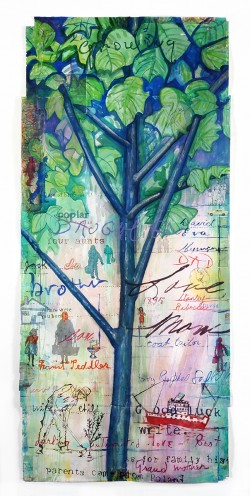 Family Tree ,paper, 60_x28_,2021